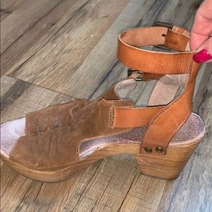 Free People suede sandals